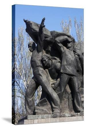 Memorial to Mutinous Sailors of Battleship Potemkin, Who Supported Workers' Revolt of 1905--Stretched Canvas Print