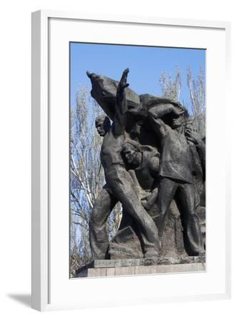 Memorial to Mutinous Sailors of Battleship Potemkin, Who Supported Workers' Revolt of 1905--Framed Giclee Print