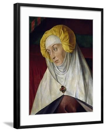 France, Moulins, Notre-Dame Cathedral, St Anna, Detail from Right Wing of Triptych--Framed Giclee Print