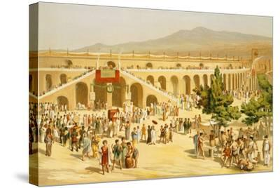 Reproduction of the Market-Fausto and Felice Niccolini-Stretched Canvas Print