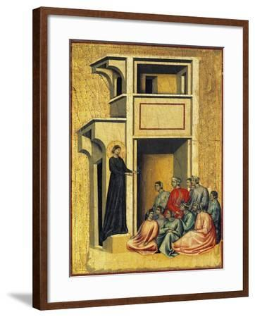 Saint Cecilia Converting Soldiers of Prefect--Framed Giclee Print
