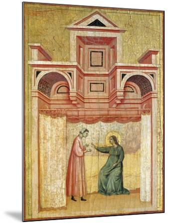 Cecilia Persuading Her Husband Valerian to Baptism--Mounted Giclee Print
