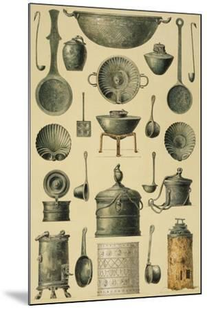 Reproduction of Cooking Utensils-Fausto and Felice Niccolini-Mounted Giclee Print