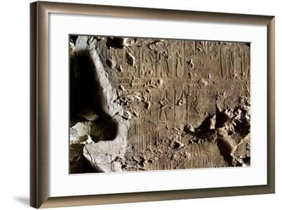 Tomb of First Herald Duaerneheh, Relief Decoration--Framed Giclee Print