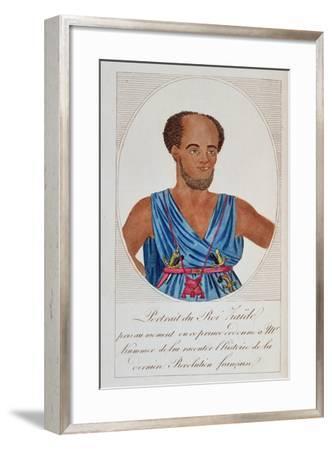 King Zaide, Senegal, Frontispiece of 'Naufrage De La Frégate La Méduse'--Framed Giclee Print
