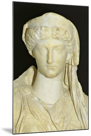 Roman Civilization Statue of Seated Livia Portrayed as Ceres from Roselle--Mounted Giclee Print