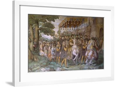 Entrance of Emperor Charles V--Framed Giclee Print