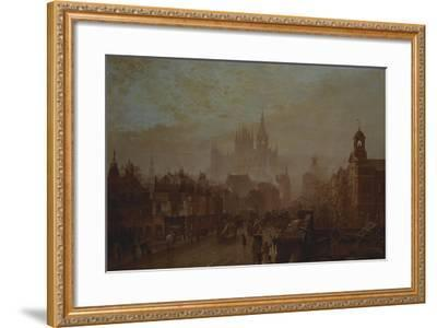 Station and Saint Pancras Hotel on Pentonville Road--Framed Giclee Print