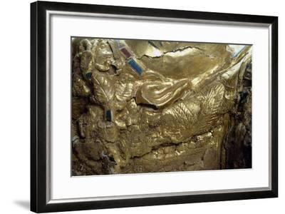 Mummy Uncovered in Tomb No 54--Framed Giclee Print