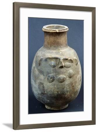 Terracotta Vase Depicting God Bes--Framed Giclee Print