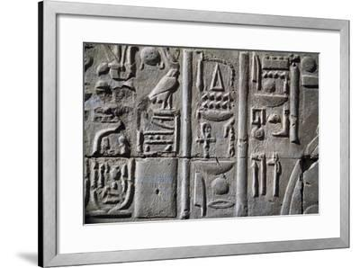 Relief with Hieroglyphics--Framed Giclee Print