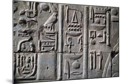 Relief with Hieroglyphics--Mounted Giclee Print