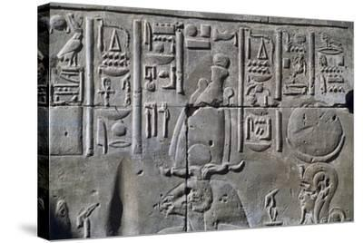Relief with Hieroglyphics--Stretched Canvas Print