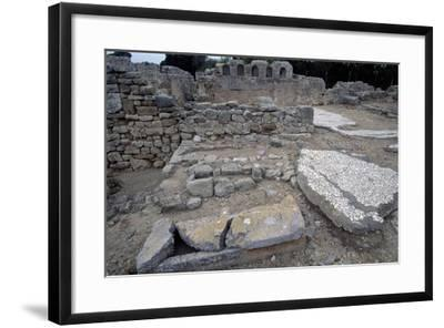 Sarcophagi in the Early Christian Basilica in Ampurias--Framed Giclee Print