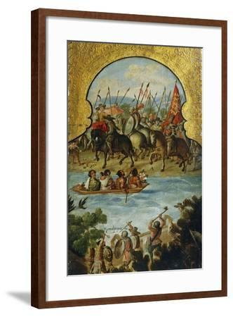 Spanish Troops Arriving in Tenochtitlan in 1520--Framed Giclee Print