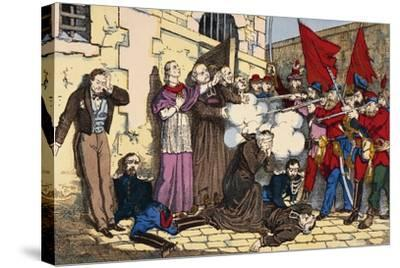 Paris Commune or Fourth French Revolution--Stretched Canvas Print