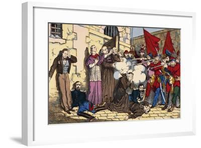 Paris Commune or Fourth French Revolution--Framed Giclee Print
