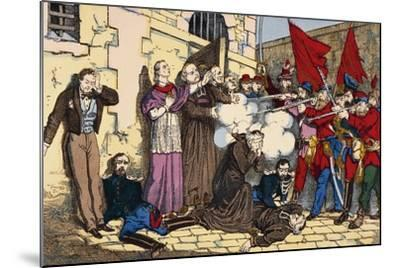 Paris Commune or Fourth French Revolution--Mounted Giclee Print