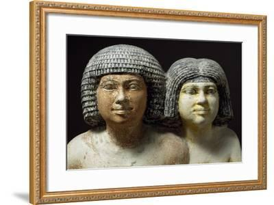 Raherka Merseankh with His Wife--Framed Giclee Print