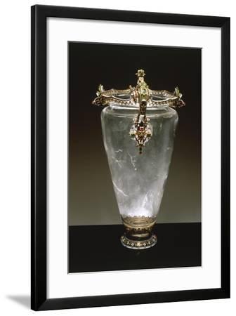 Rock Crystal Vase with Enameled Gold Mount--Framed Giclee Print