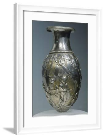 Gold and Silver Rhyton Decorated with Figures of Dionysus--Framed Giclee Print