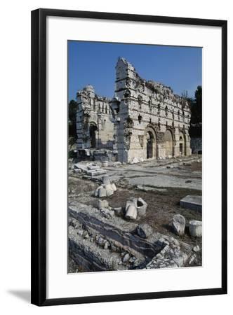 East Wall of the Frigidarium--Framed Giclee Print