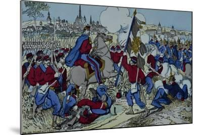 Ricciotti Garibaldi Brings the Flag of the 61 Regiment of Pomeranian--Mounted Giclee Print