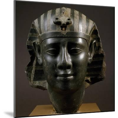 Head of Royal Man Wearing Nemes Headdress--Mounted Giclee Print
