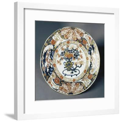 Large Plate Decorated with Floral Patterns--Framed Giclee Print