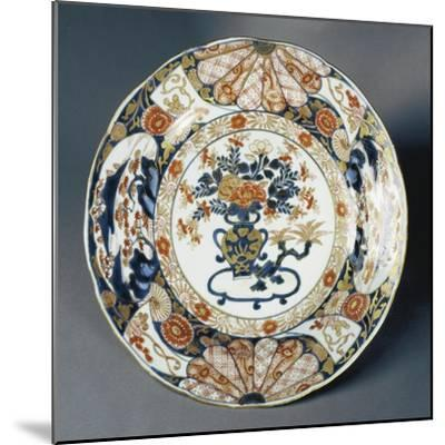Large Plate Decorated with Floral Patterns--Mounted Giclee Print