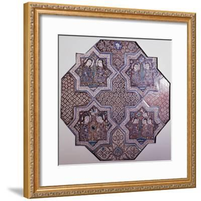 Fragment of Ceramic Wall Panel Made Up of 4--Framed Giclee Print