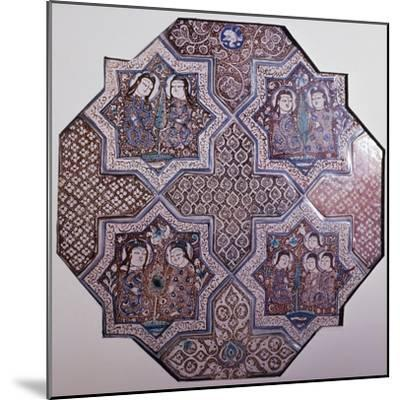 Fragment of Ceramic Wall Panel Made Up of 4--Mounted Giclee Print