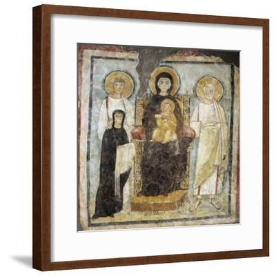 Madonna and Child Between Saints Felix and Adautto and Donor Turtura--Framed Giclee Print