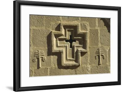 St Catherine's Monastery, Detail of Church Facade with Cross--Framed Giclee Print