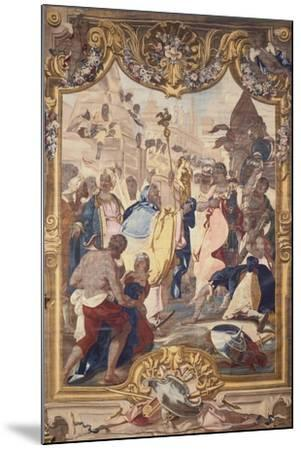 Savoy Manufacture Tapestry Featuring Caesar at the Walls of Alexandria--Mounted Giclee Print