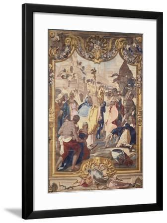 Savoy Manufacture Tapestry Featuring Caesar at the Walls of Alexandria--Framed Giclee Print