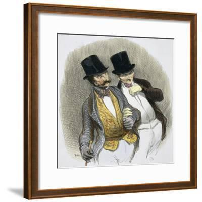 They Have Just Plucked Someone-Honore Daumier-Framed Giclee Print