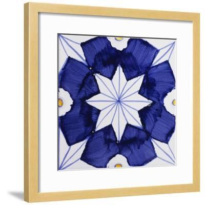 Tile with Geometric Patterns for Houses of Nobles--Framed Giclee Print