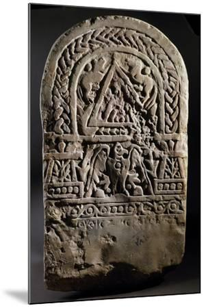 Funerary Stele with Relief Depicting Arched Doorway Between Two Pillars--Mounted Giclee Print