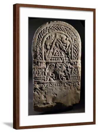Funerary Stele with Relief Depicting Arched Doorway Between Two Pillars--Framed Giclee Print