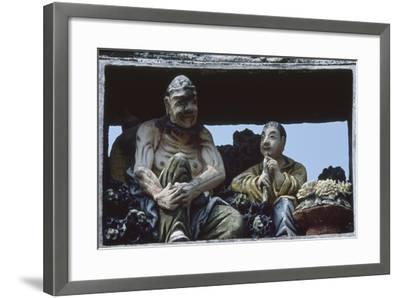 Sculptures at the Ancestral Temple of the Chen Family in Canton--Framed Giclee Print