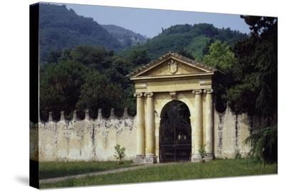 View from Park's Main Entrance with Dedication to Alvise Pisani--Stretched Canvas Print