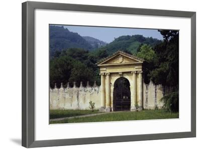 View from Park's Main Entrance with Dedication to Alvise Pisani--Framed Giclee Print
