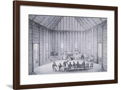 Sandwich Island Leaders Meeting with the Commanders of the Venus Frigate--Framed Giclee Print