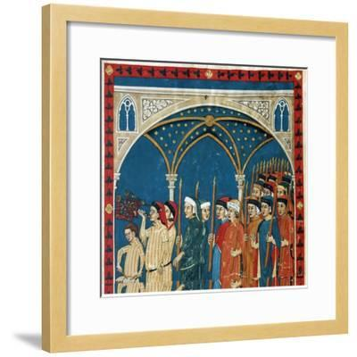 Procession of the Notaries Through the Streets of Perugia for the Feast of Candlemas--Framed Giclee Print