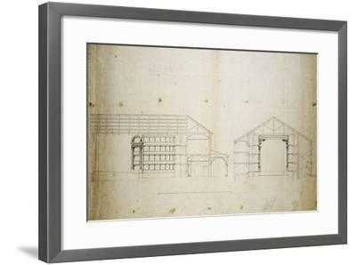Survey and Proposal for Restoration of Morelliano Theatre in Novara: Plan--Framed Giclee Print