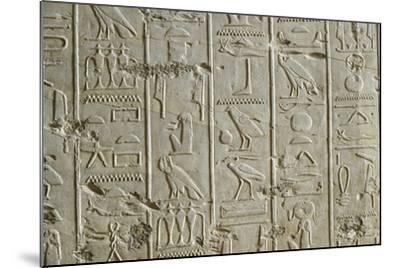 Tomb of Ramses II, Relief of Hieroglyphics Illustrating Litany of Ra from 19th Dynasty--Mounted Giclee Print
