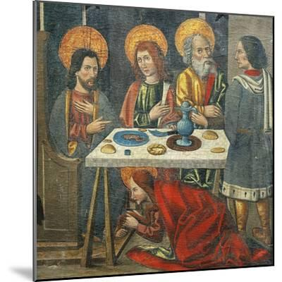 Lunch in the House of Simon the Pharisee with Mary Magdalene Drying Jesus' Feet with Her Hair--Mounted Giclee Print