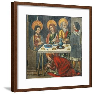 Lunch in the House of Simon the Pharisee with Mary Magdalene Drying Jesus' Feet with Her Hair--Framed Giclee Print