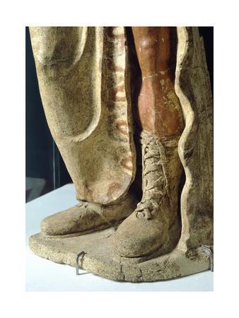 Terracotta Statue from Site of Lavinium-Pratica Di Mare, Lazio, Italy, Detail of Boot--Framed Giclee Print